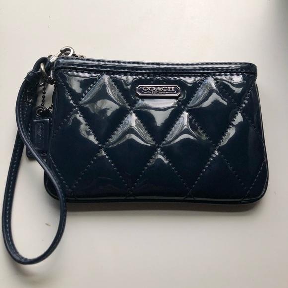 Coach Handbags - Coach Navy Wristlet